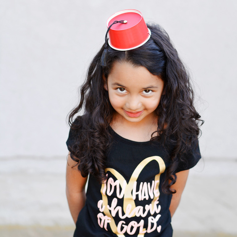 Easy craft DIY for making adorable mini fez hats for Valentine's Day or any occasion!